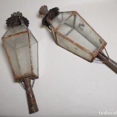 Antigüedades: PAREJA FAROLES DE BALCON PARA PROCESIONES,SEMANA SANTA -FANAL---REF ZZ. Lote 198941496