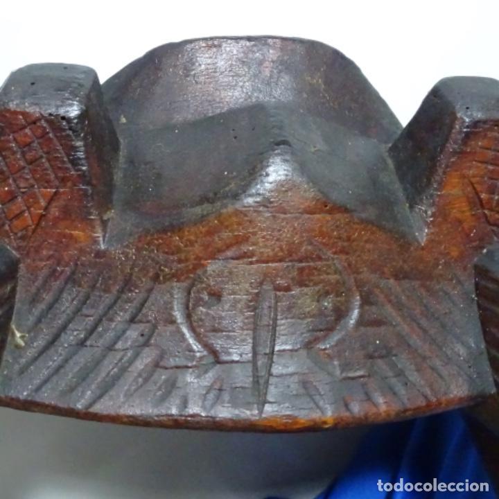 Antigüedades: Antiguo Yugo Vasco de madera tallada. - Foto 5 - 198952235