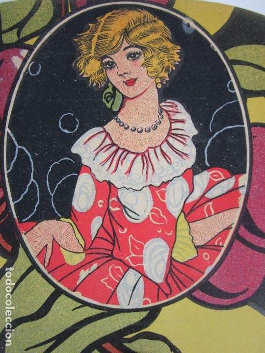 Antigüedades: Pay Pay Art Decó -Abanicos Publicidad Pastes Alimenticies i Forn de Pa, Josefa Coromines, Granollers - Foto 8 - 198979952