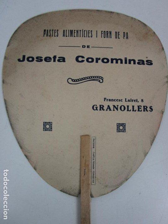 Antigüedades: Pay Pay Art Decó -Abanicos Publicidad Pastes Alimenticies i Forn de Pa, Josefa Coromines, Granollers - Foto 11 - 198979952