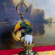 Antigüedades: PRECIOSA LAMPARA QUINQUE O FAROL EN LATON MUY DECORATIVO Y BRILLANTE. Lote 198988031