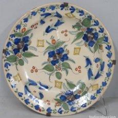 Antiquités: ANTIGUO PLATO DE CERAMICA. MANISES. SIGLO XIX. Lote 199050413