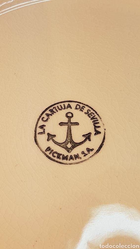 Antigüedades: AGUAMANIL / JOFAINA. PALANGANA Y JARRA EN PORCELANA POLICROMADA. PICKMAN. SEVILLA. - Foto 11 - 199055442