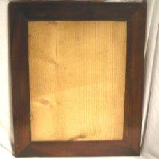 Antigüedades: MARCO ISABELINO S XIX, PLACADO MADERA DE CAOBA, RESTAURADO. MED. 35 X 42 CM. Lote 199086597