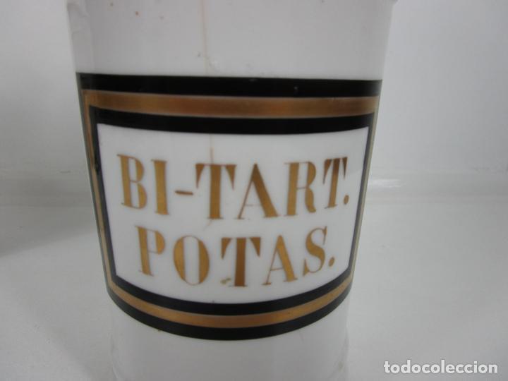 Antigüedades: Botes de Farmacia - Bote, Albarelo - Porcelana - Letras Doradas - S. XIX - Foto 9 - 199088753