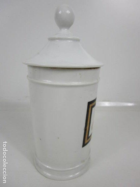 Antigüedades: Botes de Farmacia - Bote, Albarelo - Porcelana - Letras Doradas - S. XIX - Foto 18 - 199088753