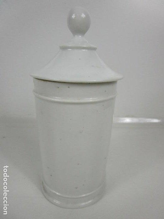 Antigüedades: Botes de Farmacia - Bote, Albarelo - Porcelana - Letras Doradas - S. XIX - Foto 19 - 199088753