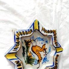 Antigüedades: ANTIGUO CENICERO DE TRIANA 21 X 21 CENTIMETROS. Lote 199146365