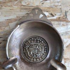 Antigüedades: CENICERO DE LATÓN. Lote 199147526