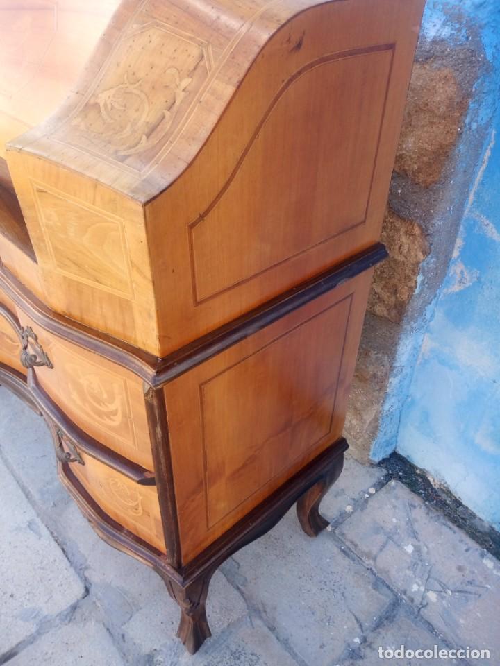 Antigüedades: antiguo escritorio estilo luis xv - Foto 11 - 199149592