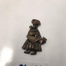 Antigüedades: BROCHE DE PLATA ANTIGUO PUNZO NADO ECHO A MANO. Lote 199151738