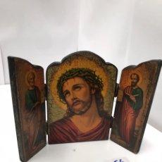 Antigüedades: RETABLO RELIGIOSO ANTIGUO. Lote 199152068