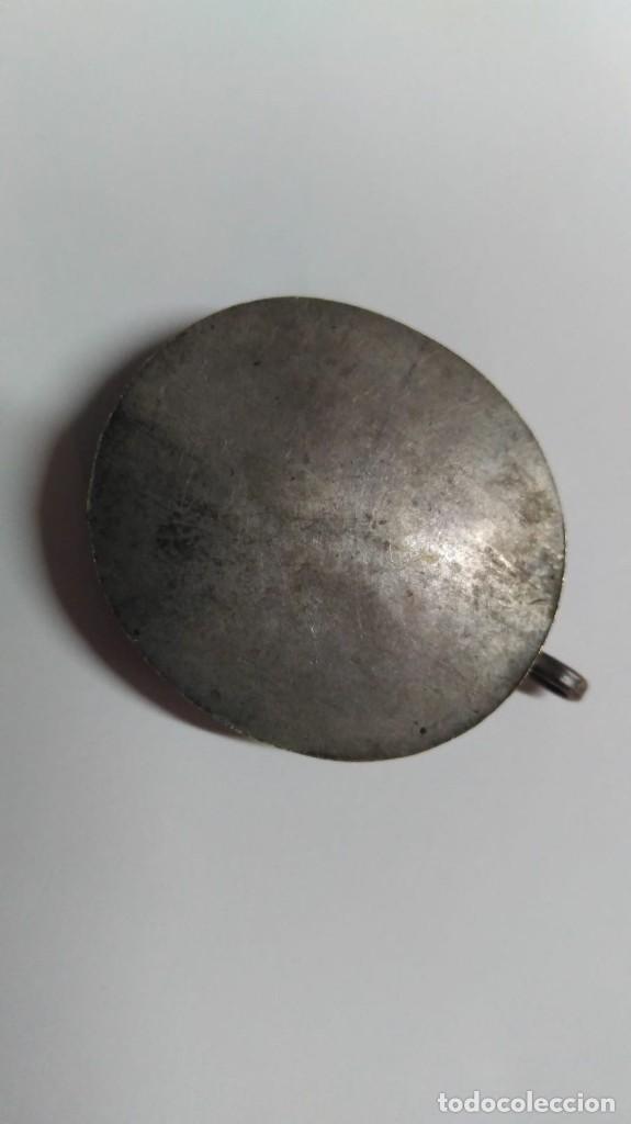 Antigüedades: RELICARIO ovalado con fragmentos óseos (ósibus). Original. Segunda mitad S. XVIII - Foto 3 - 168078404