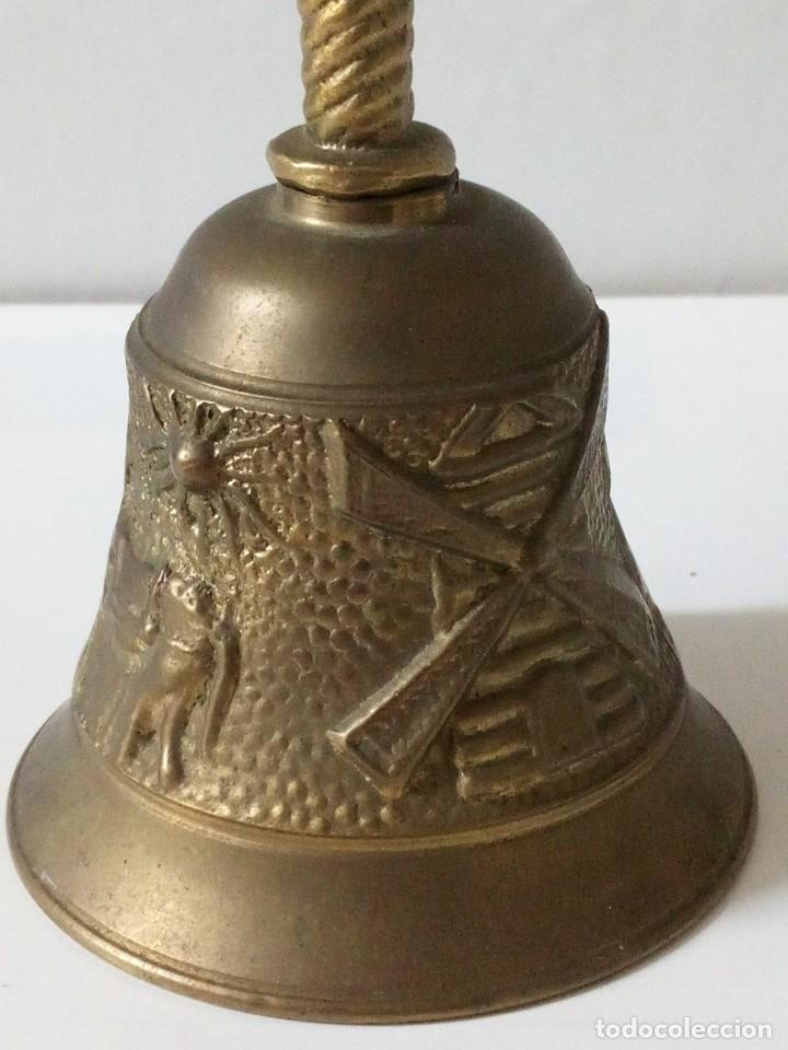 Antigüedades: ANTIGUA CAMPANILLA DE BRONCE CON MOTIVOS AGRICOLAS. - Foto 5 - 199156501