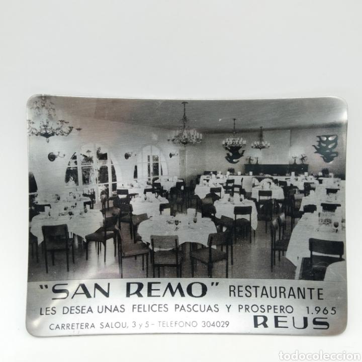 Antigüedades: Cenicero promocional de Navidad año 1965. Restaurante San Remo, Reus - Tarragona - Foto 2 - 199165875