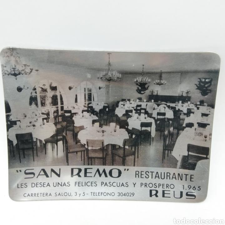 Antigüedades: Cenicero promocional de Navidad año 1965. Restaurante San Remo, Reus - Tarragona - Foto 3 - 199165875