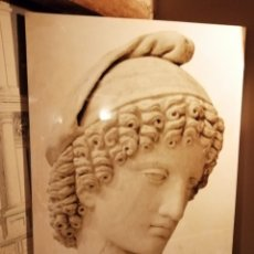 Antigüedades: VINILO SOBRE LIENZO FIGURA CLÁSICA, 1,20 X 80, PRECIOSO, MUY DECORATIVO. Lote 199166662