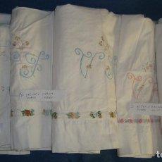 Antigüedades: 3 JUEGOS DE SÁBANAS ANTIGUAS ALGODÓN O LINO 210CM. X 240CM.. Lote 199168515