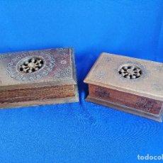 Antigüedades: LOTE DE CAJAS DE MADERA ANTIGUAS CON DIBUJOS. Lote 199171267