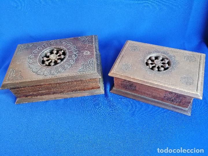 Antigüedades: LOTE DE CAJAS DE MADERA ANTIGUAS CON DIBUJOS - Foto 3 - 199171267