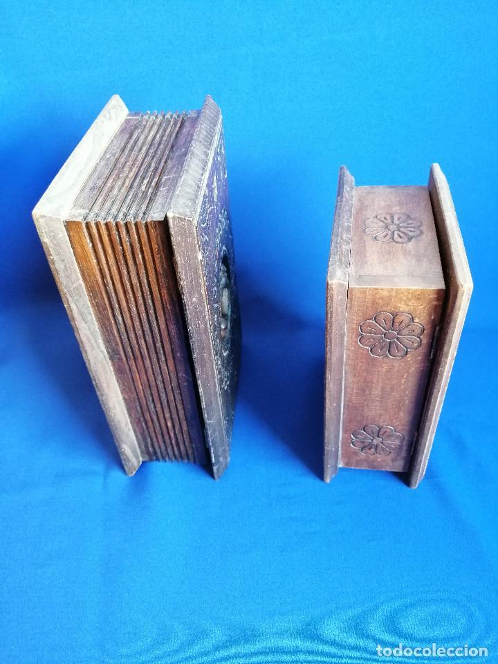 Antigüedades: LOTE DE CAJAS DE MADERA ANTIGUAS CON DIBUJOS - Foto 6 - 199171267