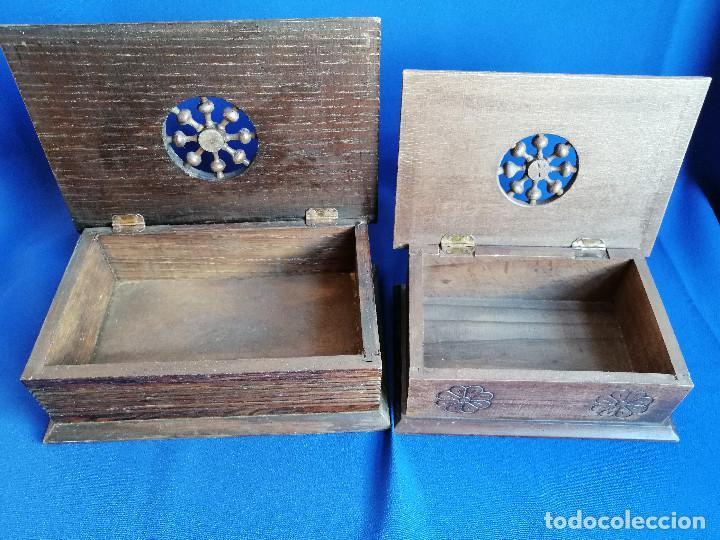 Antigüedades: LOTE DE CAJAS DE MADERA ANTIGUAS CON DIBUJOS - Foto 8 - 199171267