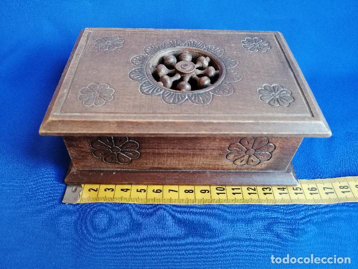 Antigüedades: LOTE DE CAJAS DE MADERA ANTIGUAS CON DIBUJOS - Foto 11 - 199171267