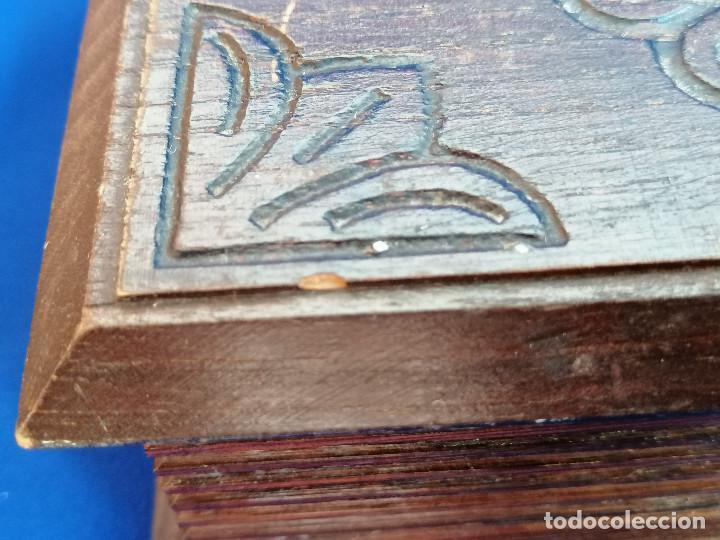 Antigüedades: LOTE DE CAJAS DE MADERA ANTIGUAS CON DIBUJOS - Foto 17 - 199171267