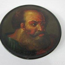 Antigüedades: CAJA, CAJITA PARA RAPÉ ITALIANA - BARROCO - ESCUELA CARAVAGGIO - SAN JERÓNIMO - S. XVII. Lote 199186863