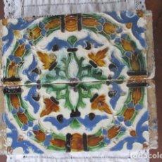 Antigüedades: PAREJA Nº29 AZULEJOS SIGLO XVI (TRIANA). Lote 199196917
