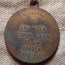 Antigüedades: MEDALLA CORONACION VIRGEN VALENCIA 1923 W. Lote 199209218