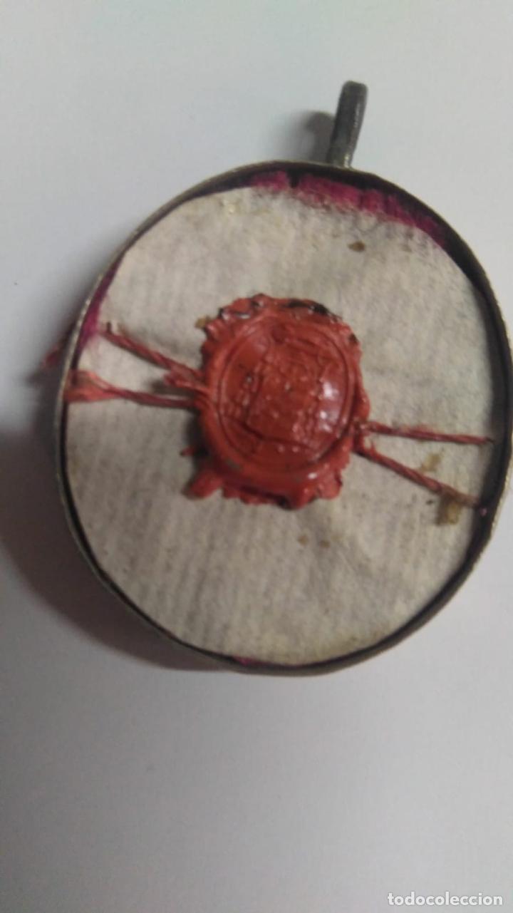 Antigüedades: RELICARIO ovalado con fragmentos óseos (ósibus). Original. Segunda mitad S. XVIII - Foto 6 - 168078404