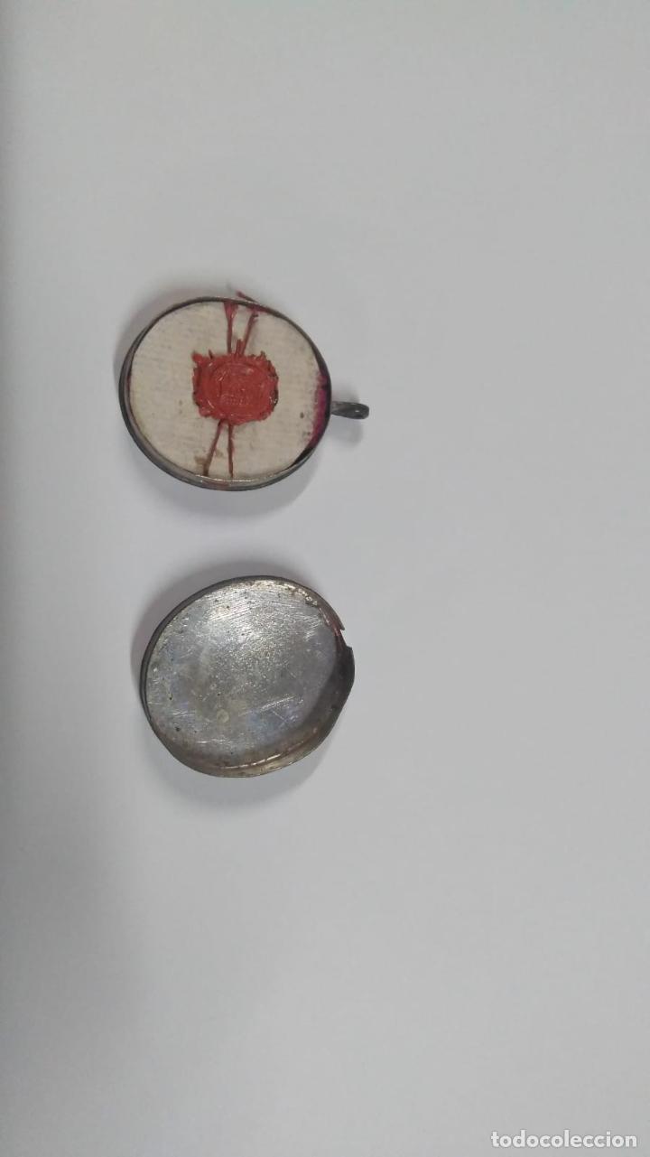 Antigüedades: RELICARIO ovalado con fragmentos óseos (ósibus). Original. Segunda mitad S. XVIII - Foto 7 - 168078404