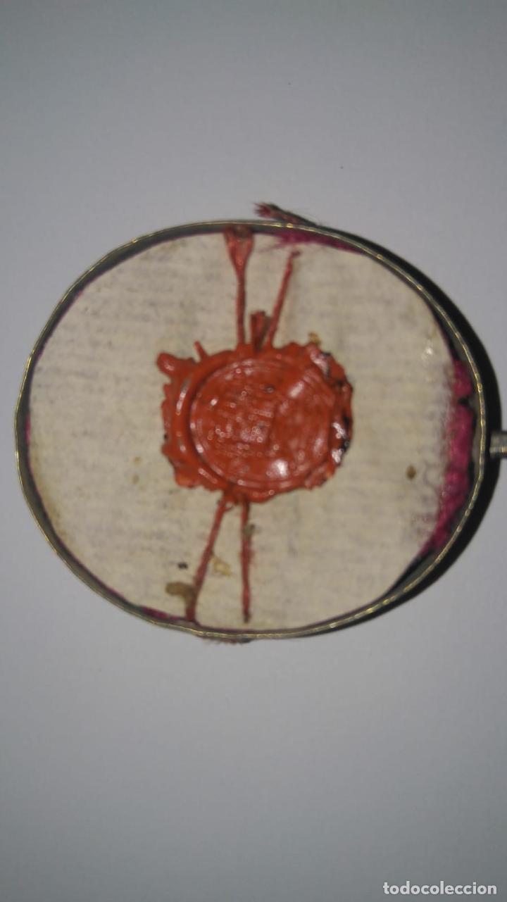 Antigüedades: RELICARIO ovalado con fragmentos óseos (ósibus). Original. Segunda mitad S. XVIII - Foto 8 - 168078404