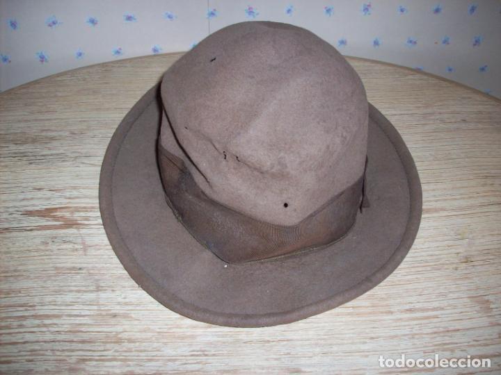 ANTIGUO SOMBRERO DE GUARDIA JURADO DE CAMPO . GUARDIA RURAL . (Antigüedades - Moda - Sombreros Antiguos)