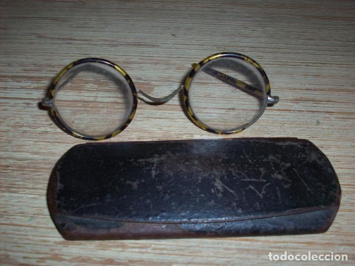 Antigüedades: ANTIGUAS GAFAS 1800 TIPO QUEVEDO CON MONTURA DE CONCHA DE TORTUGA . EN SU ESTUCHE ORIGINAL . - Foto 9 - 199234146