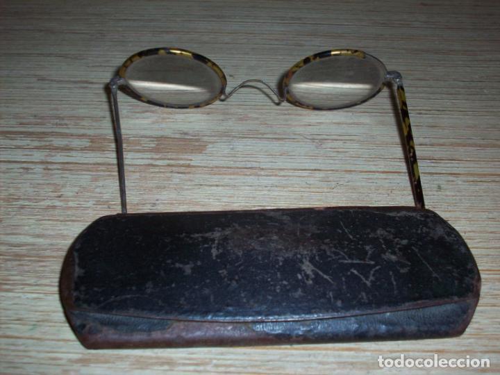 Antigüedades: ANTIGUAS GAFAS 1800 TIPO QUEVEDO CON MONTURA DE CONCHA DE TORTUGA . EN SU ESTUCHE ORIGINAL . - Foto 10 - 199234146