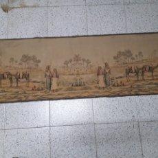 Antigüedades: ANTIGUO TAPIZ DE UN OASIS DOBLE IMAGEN. Lote 199242725