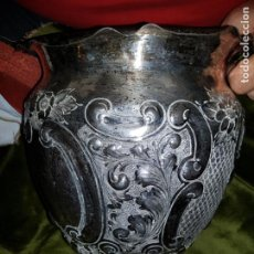 Antigüedades: JARRON PARA OFRENDAS. SIGLO XIX .ORFEBRERÍA. Lote 199252655