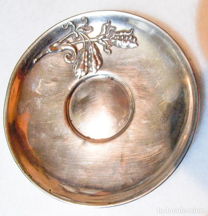 Antigüedades: Platillo - .800 plata - España - Primera mitad del Siglo XX - Foto 2 - 199273572