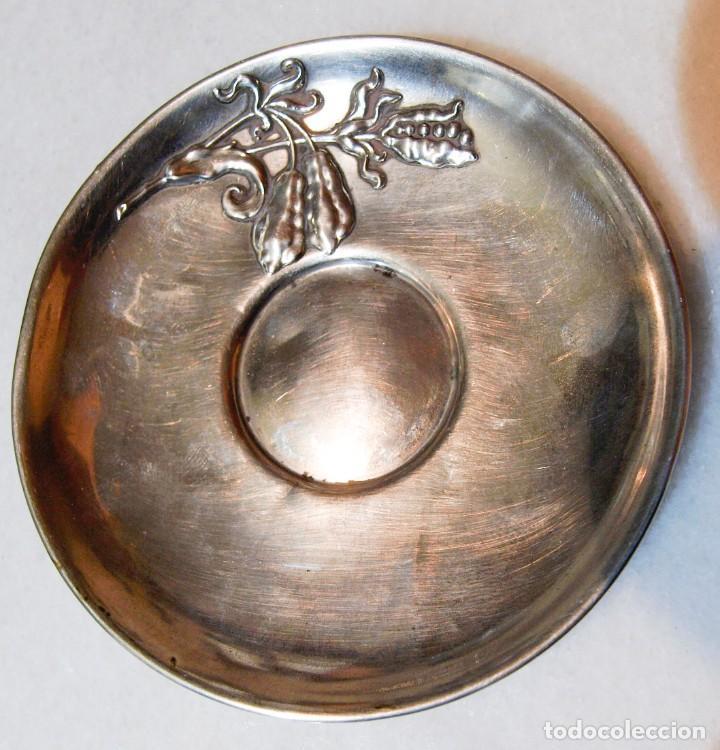 Antigüedades: Platillo - .800 plata - España - Primera mitad del Siglo XX - Foto 3 - 199273572