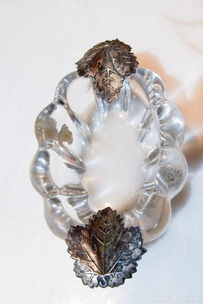 Antigüedades: Cenicero - Cristal de Roca y Plata - España - Primera mitad del Siglo XX - Foto 2 - 199274695