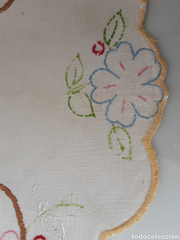 Antigüedades: Tapete bordado años 50 - Foto 5 - 199278040