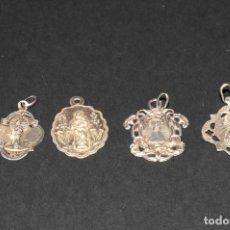 Antigüedades: LOTE DE 4 MEDALLAS DE PLATA - 3 DEL PILAR Y 1 DE VALL VANA (MORELLA). Lote 199278322