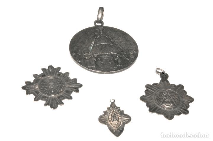 Antigüedades: LOTE DE 4 MEDALLAS DE PLATA DE MONTSERRAT - Foto 2 - 199279618
