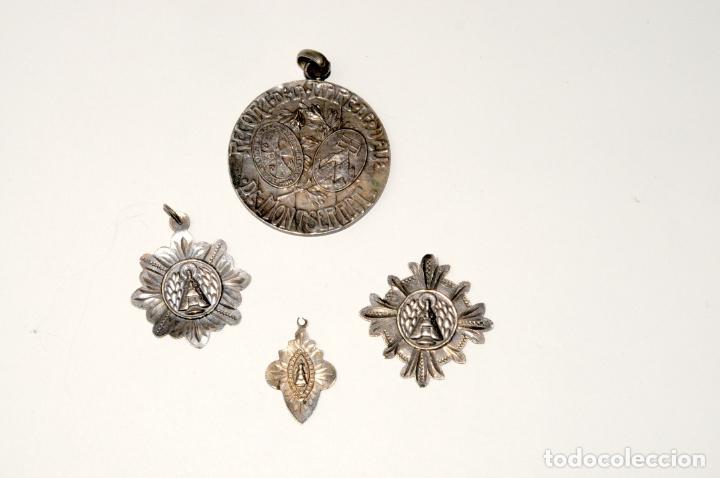 Antigüedades: LOTE DE 4 MEDALLAS DE PLATA DE MONTSERRAT - Foto 5 - 199279618