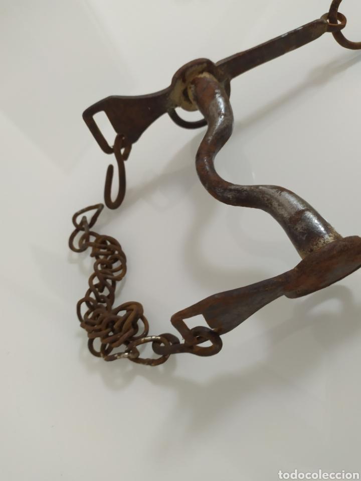 Antigüedades: Antiguo bocado de forja para Caballo de Carabineros - Foto 4 - 199294685