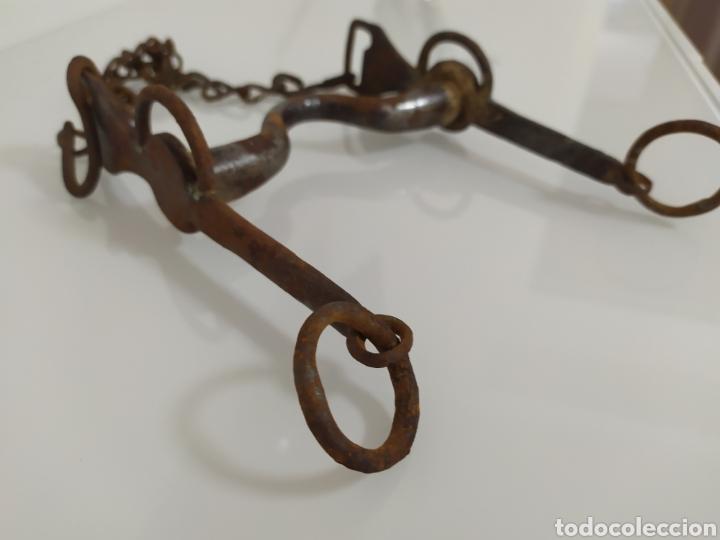 Antigüedades: Antiguo bocado de forja para Caballo de Carabineros - Foto 14 - 199294685
