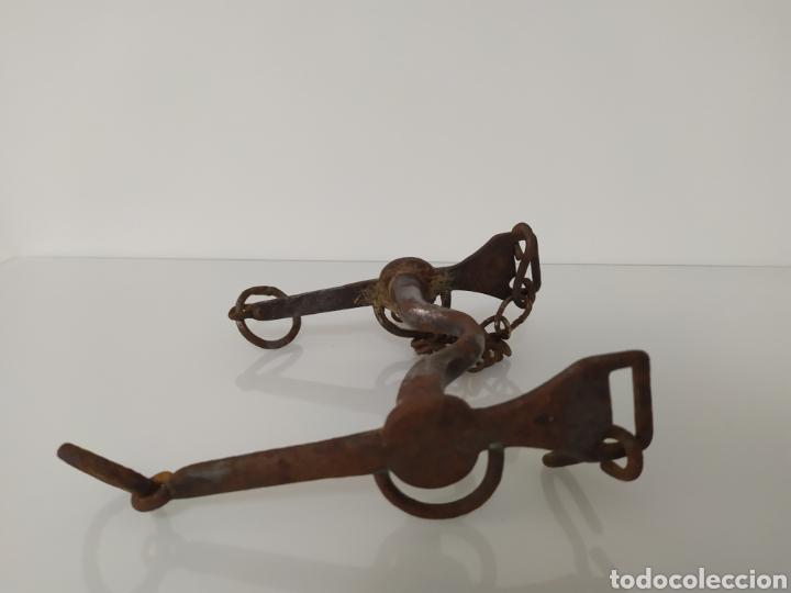 Antigüedades: Antiguo bocado de forja para Caballo de Carabineros - Foto 20 - 199294685