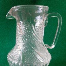 Antigüedades: ANTIGUA JARRA DE CRISTAL PRENSADO. Lote 199318981